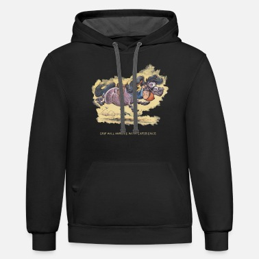 Norman Thelwell Thelwell Grip will improve - Unisex Two-Tone Hoodie