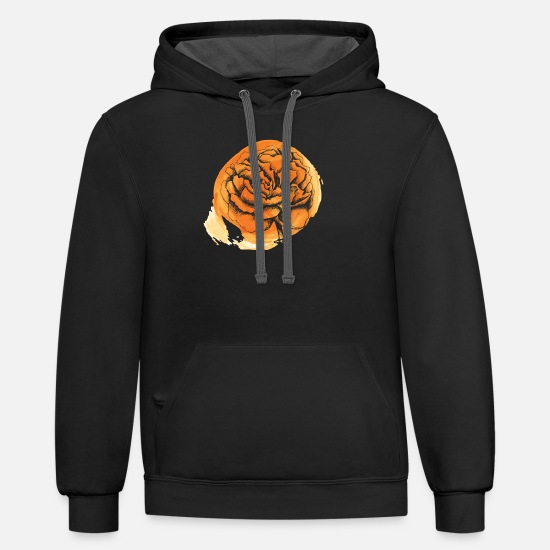 Floral Hoodies & Sweatshirts - Flower's Reflection - Unisex Two-Tone Hoodie black/asphalt
