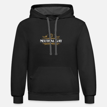 Neutral Gay Alignment D20 Dice - Unisex Two-Tone Hoodie