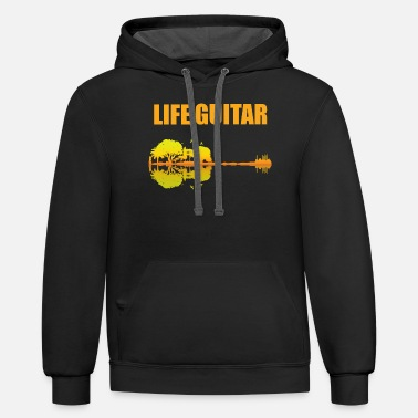 Bass Guitar Cool New Premium Life Guitar T-Shirt - Unisex Two-Tone Hoodie