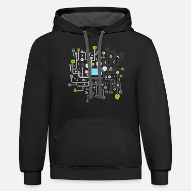 Computer Business the computer T Shirt - Unisex Two-Tone Hoodie