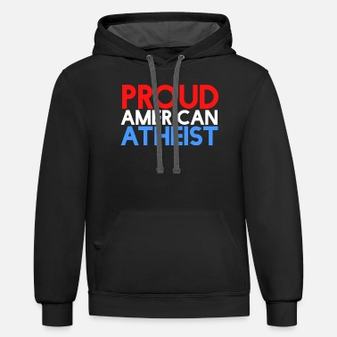 Atheism Proud american atheist atheism usa - Unisex Two-Tone Hoodie