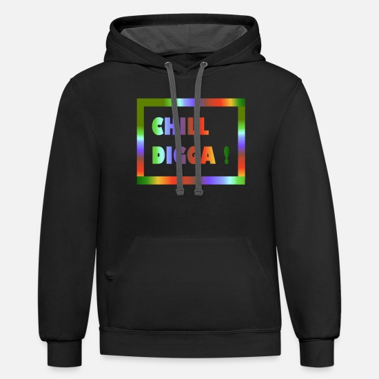 Birthday Hoodies & Sweatshirts - colorful design - Unisex Two-Tone Hoodie black/asphalt