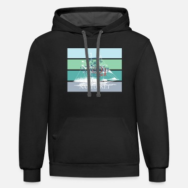 Yachting Sailing Nantucket North Harbour Design - Unisex Two-Tone Hoodie