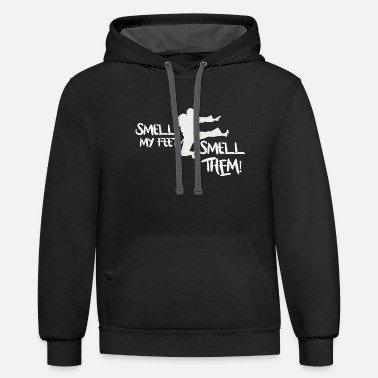 Feet Funny Karate - Smell My Feet - Fighting Humor - Unisex Two-Tone Hoodie