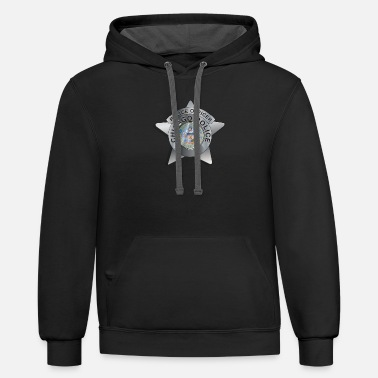 Chicago Police Badge - Unisex Two-Tone Hoodie