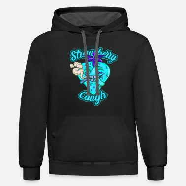 Strawberry Coughs Strain Straw Berry Marijuana - Unisex Two-Tone Hoodie
