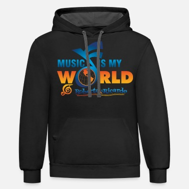 Music &amp Music Is My World Musical Notes Roberta amp Ri - Unisex Two-Tone Hoodie