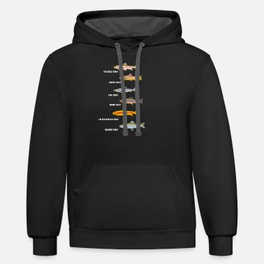 Fishing Fish fishing | Fish species fishing gift idea - Unisex Two-Tone Hoodie