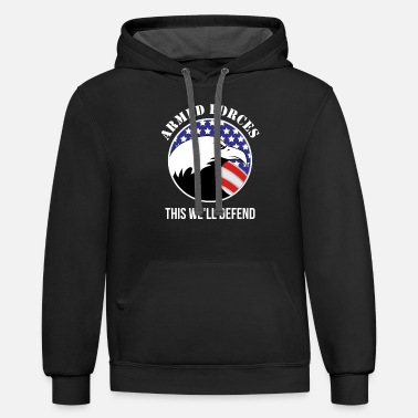 Armed Forces Armed Forces - Armed Forces. This we`ll defend - Unisex Two-Tone Hoodie