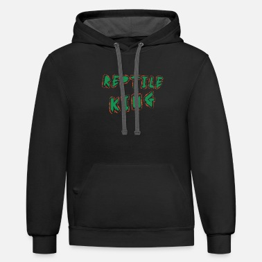 Reptile Reptile - Reptile King - Unisex Two-Tone Hoodie