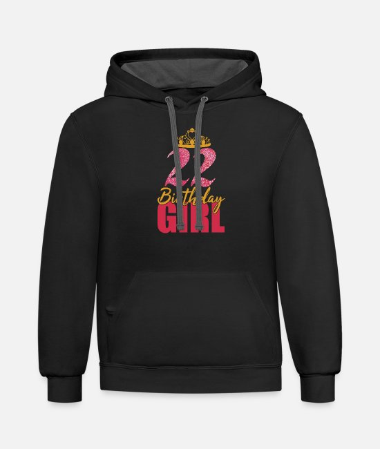 22 Hoodies & Sweatshirts - 22 Birthday Girl Crown Princess Queen Shirt For - Unisex Two-Tone Hoodie black/asphalt