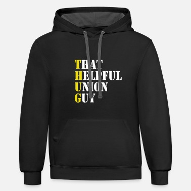 Labor Union - Laborers Union - Unisex Two-Tone Hoodie