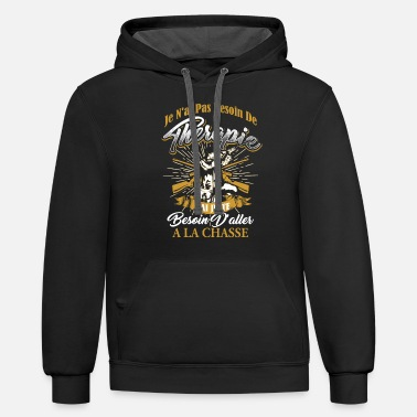 J'ai Juste Besoin D'aller A La Chasse - Unisex Two-Tone Hoodie