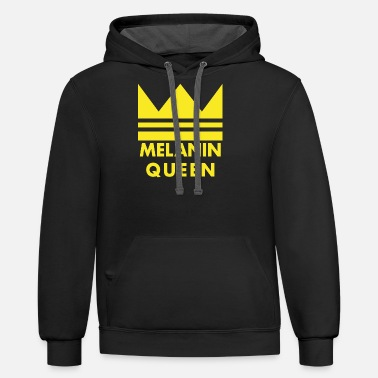 Melanin Queen Melanin Queen - Unisex Two-Tone Hoodie