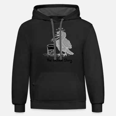 New Design THIRSTY CROW Best Seller - Unisex Two-Tone Hoodie