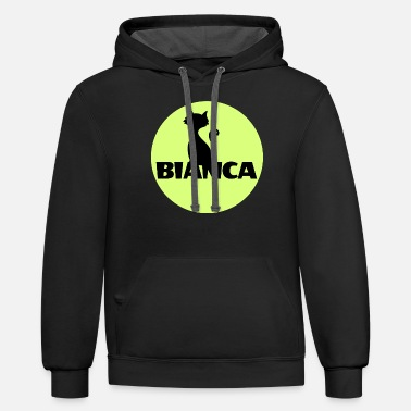 First Name Bianca name first name - Unisex Two-Tone Hoodie