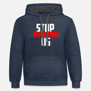 Stop Shooting For US - Unisex Two-Tone Hoodie