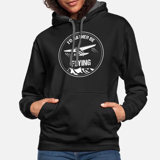 tee Retro Plane Pilot I/_d Rather be Flying Unisex Sweatshirt