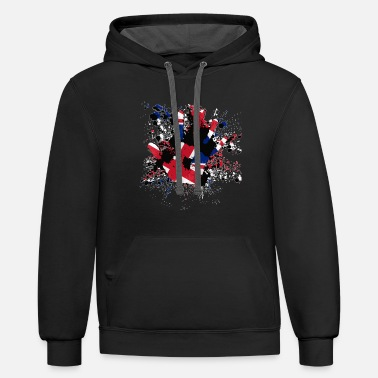 Union Jack Splatter - Unisex Two-Tone Hoodie