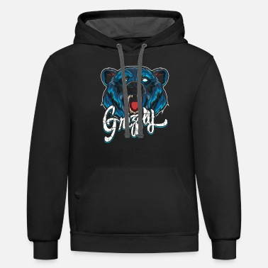 Animal Collection Grizzly Modern - Unisex Two-Tone Hoodie