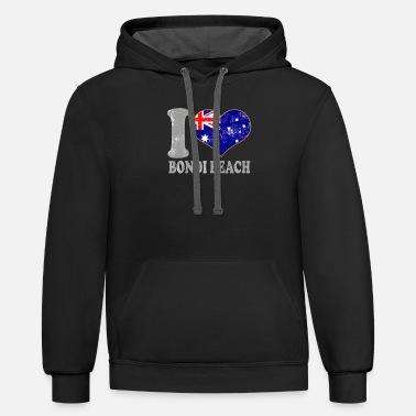 7802ab2d3c I Love Bondi Beach Australia Australian Flag Pride Men's T-Shirt ...