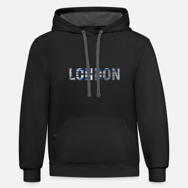 London London City Blue - Unisex Two-Tone Hoodie