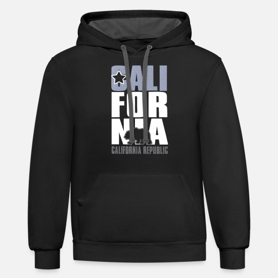 California Hoodies & Sweatshirts - CALIFORNIA REPUBLIC - Unisex Two-Tone Hoodie black/asphalt