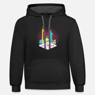 Las Vegas Las Vegas Skyline - Welcome to Fabulous Las Vegas - Unisex Two-Tone Hoodie