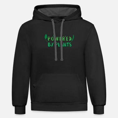 POWERED BY PLANTS - Unisex Two-Tone Hoodie