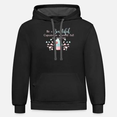 Funny Baking Quote product, Cupcake lover gift - Unisex Two-Tone Hoodie