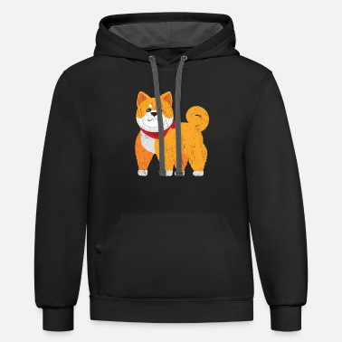 Hutning Shiba Inu Muscle Workout - Unisex Two-Tone Hoodie