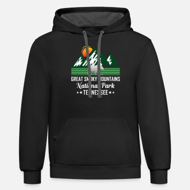 Mountains Great Smoky Mountains National Park - Unisex Two-Tone Hoodie