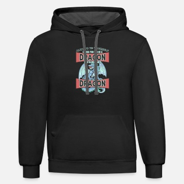 Always Be A Dragon - Funny Mythical Wyvern Drake - Unisex Two-Tone Hoodie