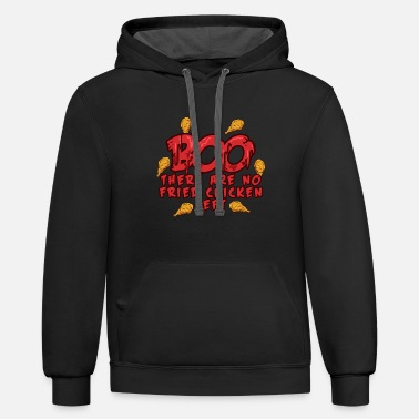 Retro BOO - There are no Fried Chickens Left - Halloween - Unisex Two-Tone Hoodie