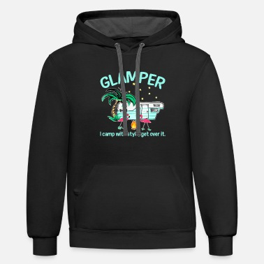 Campfire Camping Glamper I Camp With Style Campfire Adventu - Unisex Two-Tone Hoodie