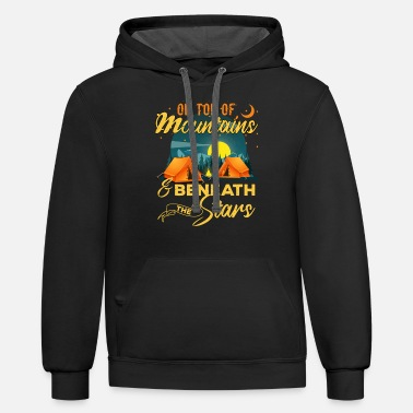 On Top Of Mountains Beneath The Stars Giftidea - Unisex Two-Tone Hoodie