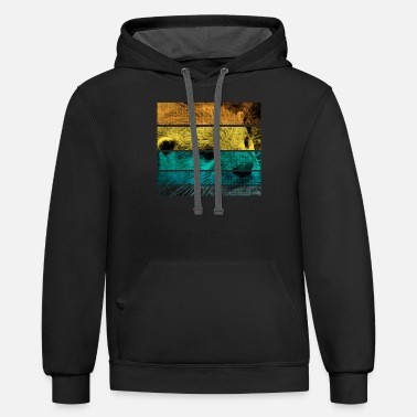 Summer Retro Otter - Unisex Two-Tone Hoodie