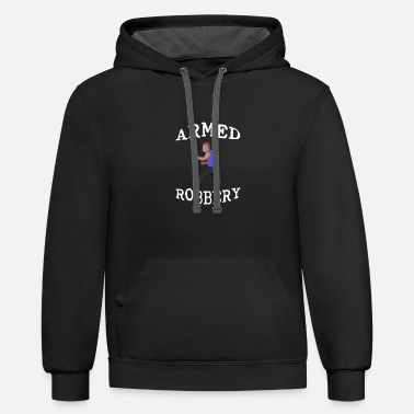 Stick Figure Armed Robbery 3 - Unisex Two-Tone Hoodie