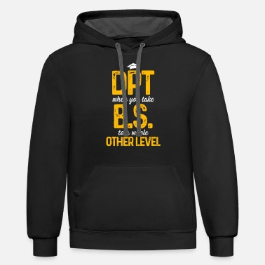 Physiotherapy DPT Doctor of Physical Therapy BS Level - Unisex Two-Tone Hoodie