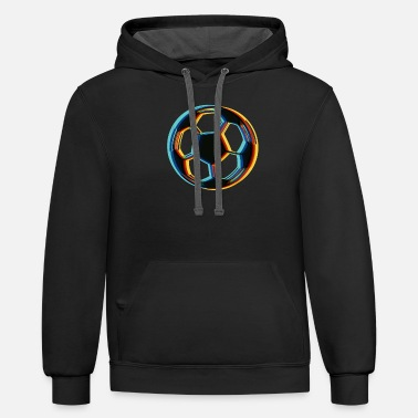 Soccer Ball Surrealistic Magical Soccer ball - Unisex Two-Tone Hoodie