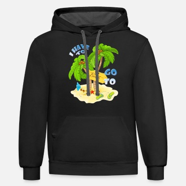 Umbrella Funny I have to go to Beach family vacation design - Unisex Two-Tone Hoodie