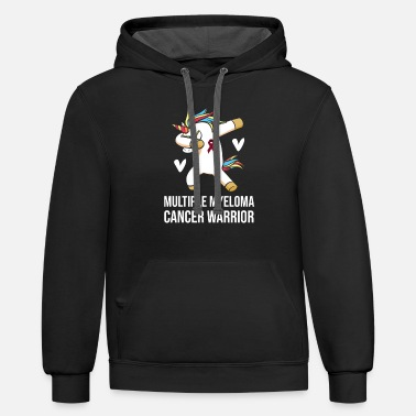 Warrior Multiple Myeloma Cancer Survivor Unicorn Warrior - Unisex Two-Tone Hoodie