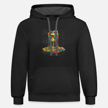Rubik awesome graphic melting rubik rubix rubics cube - Unisex Two-Tone Hoodie