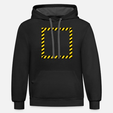 Barrier Tape Frame sign barrier - Unisex Two-Tone Hoodie