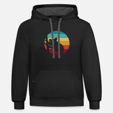Nose Koala in retro style - Unisex Two-Tone Hoodie