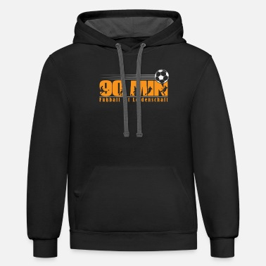 90 Min 90 min, football is passion - Unisex Two-Tone Hoodie