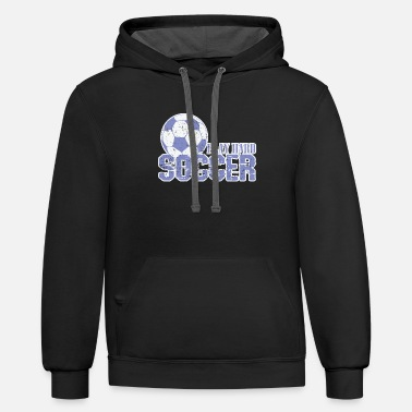 Goal Soccer Play Hard Soccer - Unisex Two-Tone Hoodie
