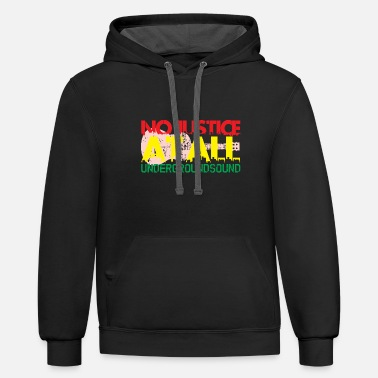 At All No Justice at All - Unisex Two-Tone Hoodie