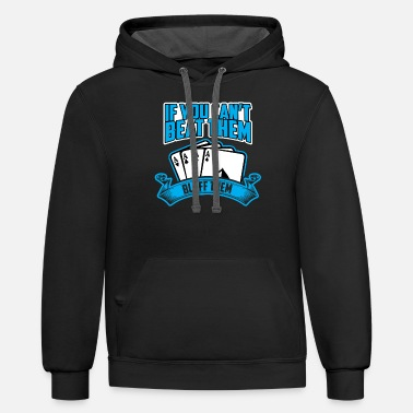Bluff Bluff them - Unisex Two-Tone Hoodie
